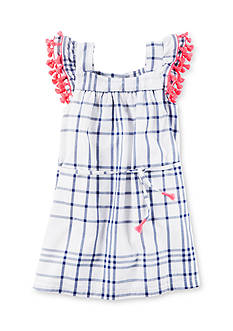 Carter's® Windowpane Tassel Dress Toddler Girls
