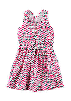 Carter's® Geo Print Linen Dress Toddler Girls