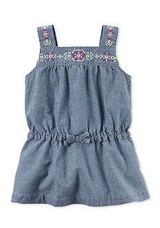 Carter's® Chambray Embroidered Tunic Toddler Girls