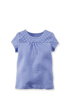 Carter's® Eyelet Lace Solid Top Toddler Girls