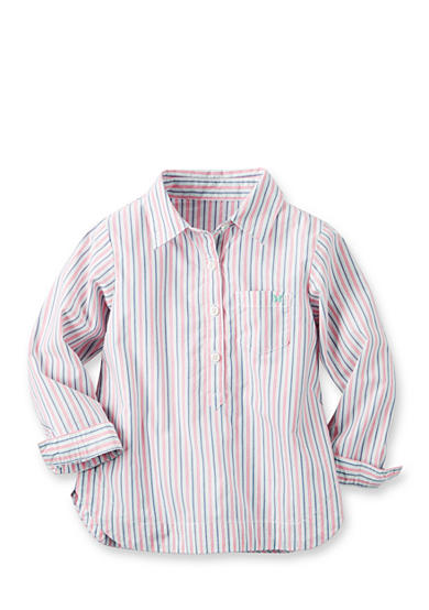 Carter's® Striped Woven Top Toddler Girls