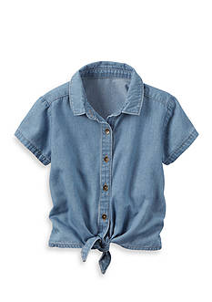 Carter's® Chambray Tie Front Top Toddler Girl