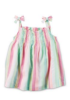 Carter's Neon Striped Tie Tank Toddler Girls