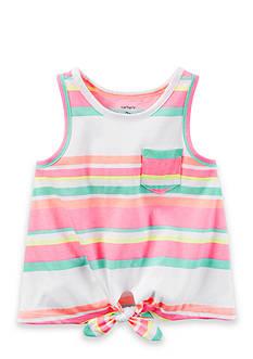 Carter's Front-Tie Neon Stripe Tank Toddler Girls