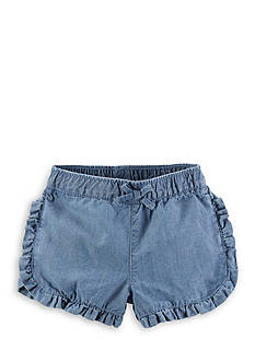 Carter's® Ruffle Denim Short Toddler Girls