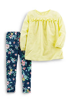 Carter's 2-Piece Tunic and Floral Leggings Set Toddler Girls