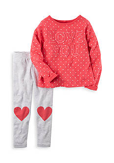 Carter's 2-Piece 'I Love You' Top and Leggings Set Toddler Girls