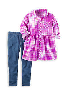 Carter's 2-Piece Checkered Top and Jeggings Set Toddler Girls