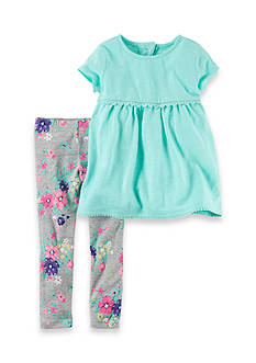 Carter's 2-Piece Baby Doll Top and Floral Leggings Set Toddler Girls