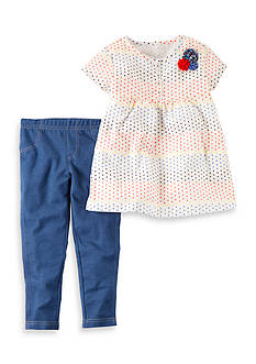 Carter's® 2-Piece Polka Dot Tee and Jeggings set Toddler Girls