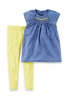 Carter's® 2-Piece Polka Dot Top and Leggings Set Toddler Girls