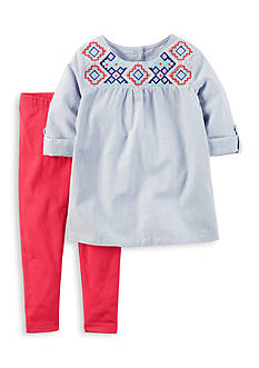 Carter's® 2-Piece Puff Top and Leggings Set Toddler Girls