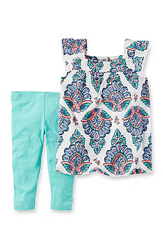 Carter's® 2-Piece Paisley Woven Top & Capri Legging Set Toddler Girls