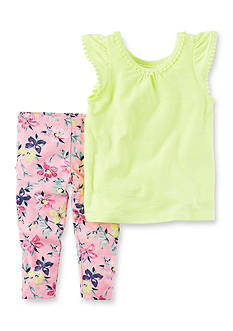 Carter's® 2-Piece Neon Top & Capri Legging Set Toddler Girl