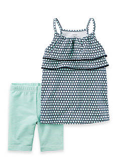 Carter's 2-Piece Pom Pom Layered Tank and Playground Short Set Toddler Girls