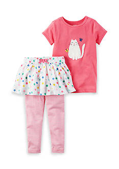Carter's® 2-Piece Kitty Tee and Skirt Set Toddler Girls