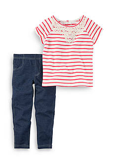 Carter's 2-Piece Striped Tee and Jeggings Set Toddler Girls