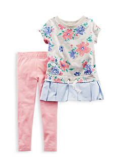 Carter's 2-Piece Floral Top and Leggings Set Toddler Girls