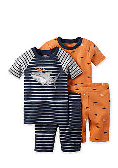 Carter's® 4-Piece Shark Pajama Set