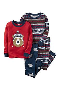 Carter's 4-Piece Red Bear Sleepwear Infant Boys