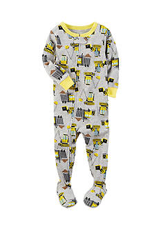 Carter's 1-Piece Gray Construction Sleepwear Infant Boys