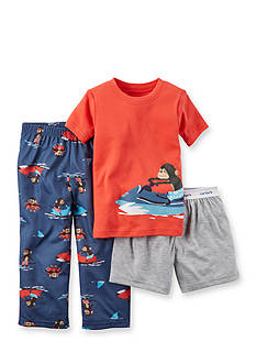 Carter's® 3-Piece Surf Monkey Pajama Set