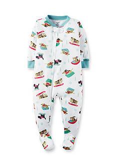Carter's Dog Print 1-Piece Footed Pajamas