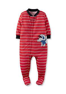 Carter's Red Dino 1-Piece Footed Pajamas