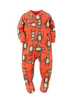 Carter's 1-Piece Orange Bear Sleepwear Infant Boys