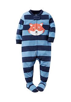 Carter's 1-Piece Navy Fox Sleepwear Infant Boys