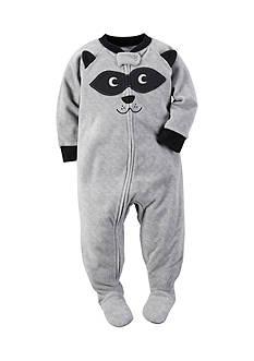 Carter's 1-Piece Gray Raccoon Sleepwear Infant Boys