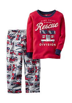 Carter's 2-Piece Red Firetruck Sleepwear Infant Boys