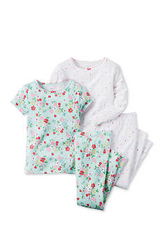 Carter's® 4-Piece Dot and Floral Pajama Set
