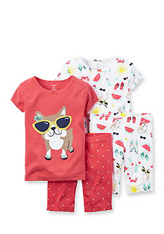 Carter's® 4-Piece Dog Pajama Set