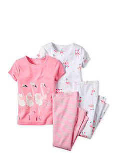 Carter's® 4-Piece Flamingo Pajama Set