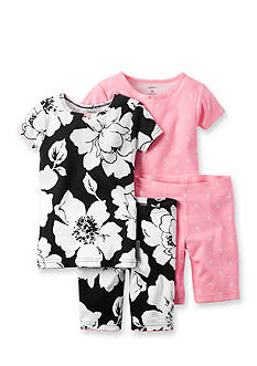 Carter's® 4-Pack Floral and Flamingo Print Pajama Set