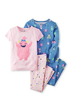 Carter's® 4-Piece Snug Fit Glow-In-The-Dark Cotton PJS