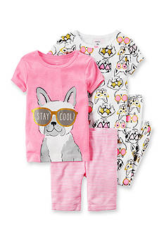 Carter's 4-Piece Neon Pajama Set