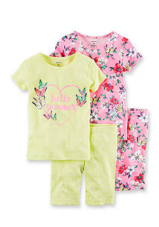 Carter's 4-Piece 'Hello Summer' Snug Fit Cotton PJs