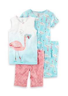 Carter's 4-Piece Flamingo Snug Fit Cotton PJs