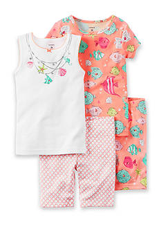 Carter's 4-Piece Fish Snug Fit Cotton PJs