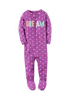 Carter's Fleece 'Dream' Zip-Up Sleep & Play