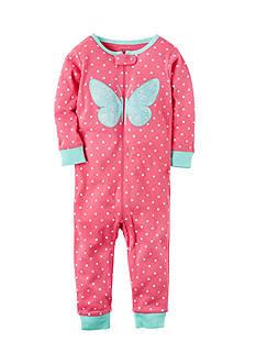 Carter's Fleece Butterfly Zip-Up Sleep & Play