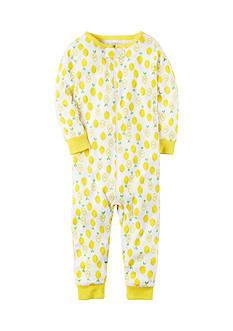 Carter's Fleece Lemon Pattern Zip-Up Sleep & Play