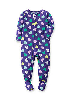 Carter's Purple Heart 1-Piece Footed Pajamas