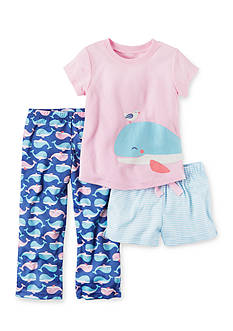Carter's 3-Piece Whale Shirt, Short, and Pant Pajama Set