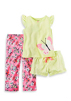 Carter's 3-Piece Butterfly Jersey Pajamas