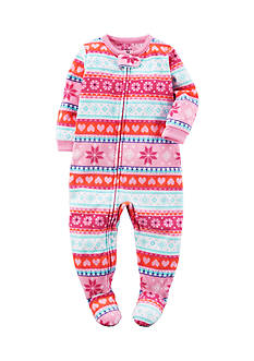 Carter's® Pink Farisle 1pc Sleepwear
