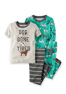 Carter's 4-Piece 'Dog Gone Tired' Pajama Set Toddler Boys