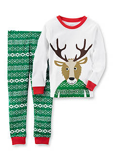 Carter's Toddler 2-Piece Reindeer Fair Isle Cotton Pajamas